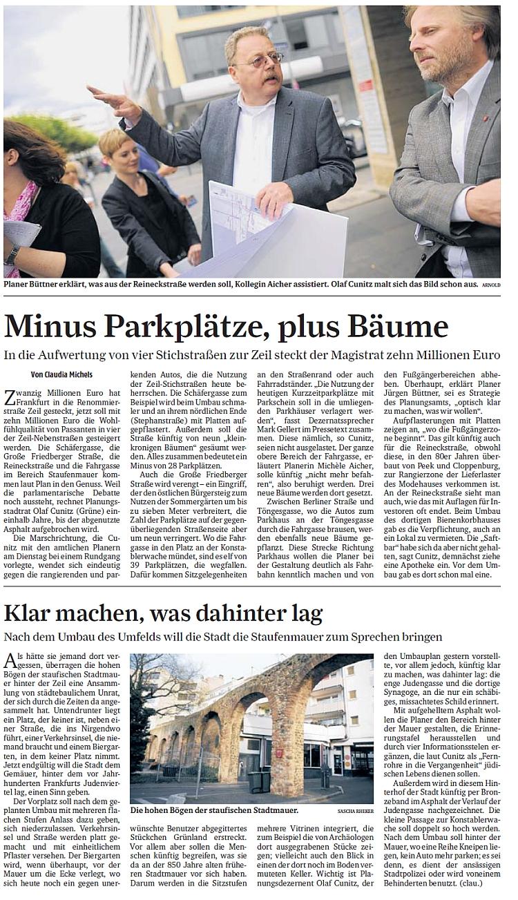 Berichtersattung über Zeil-Nebenstraßen (FR 01.08.12)