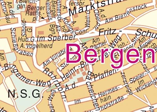 Stadtplan Bergen