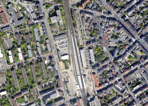 Luftbild Bahnhof Rödelheim