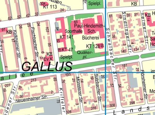 Oberstufe Gallus Karte